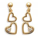 Boucles d'oreilles en plaqué-or et oxyde de zirconium