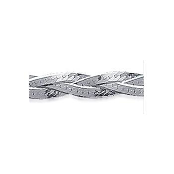 Bracelet tresses en argent 925/000. DB 178009818.
