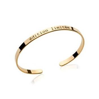 Bracelet jonc en plaqué or. Edition limitée. DB184242956.