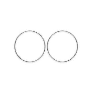 Boucles d'oreilles rondes en argent rhodié 925/000.