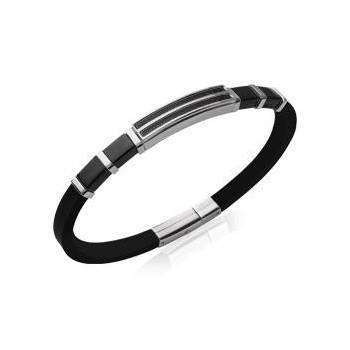 Bracelet homme avec acier et  carbone. 21 cm.