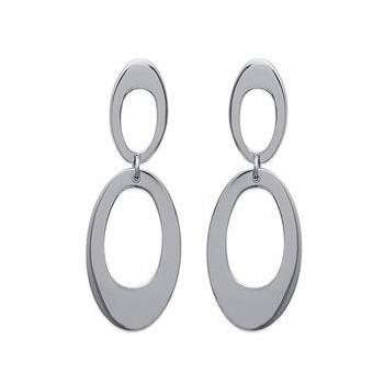 Boucles d'oreilles pendantes en acier.