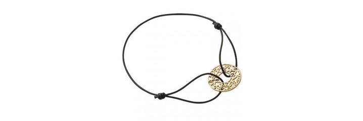 Bracelets et colliers en plaqué or et cordon