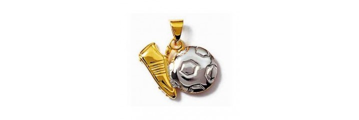Pendentifs sport en plaqué or.
