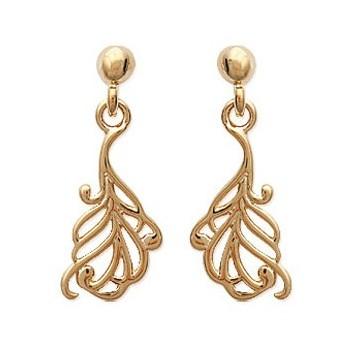 Boucles d'oreilles plaqué-or