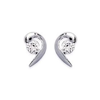 Boucles d'oreilles en argent 925/000 rhodié et OZ. DB2845710.
