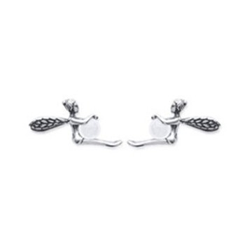 Boucles d'oreilles en argent 925/000 et quartz