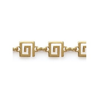 Bracelet en plaqué or 750/000