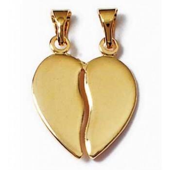 Pendentif en plaqué-or. Coeur séquable.