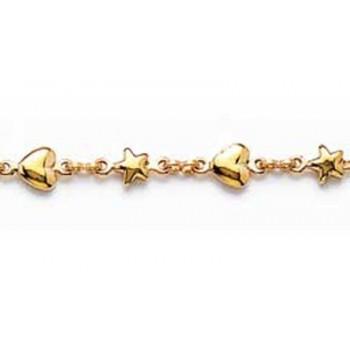 Bracelet plaqué-or 750/1000