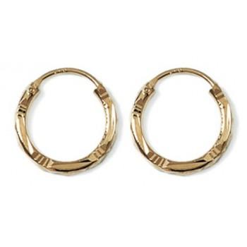 Boucles d'oreilles créoles en plaqué-or