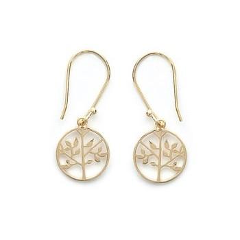 Boucles d'oreilles en plaqué or. Arbre. 4980900