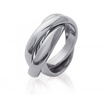Bague 3 anneaux en acier 316