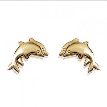 Boucles d'oreilles en plaqué-or.