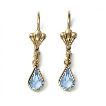 Boucles d'oreilles en plaqué-or et cristal.