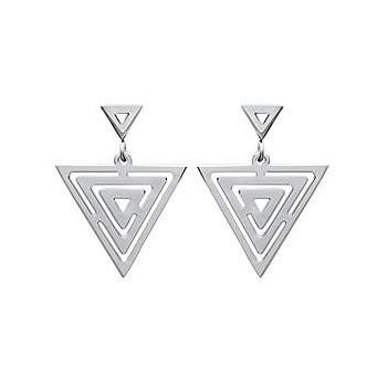 Boucles d'oreilles en acier 316L. Modèle triangle.