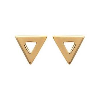 Boucles d'oreilles triangle en plaqué or.