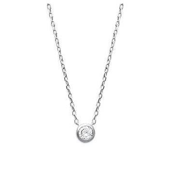 Collier en argent rhodié avec pierre OZ sertie. DB174247040.