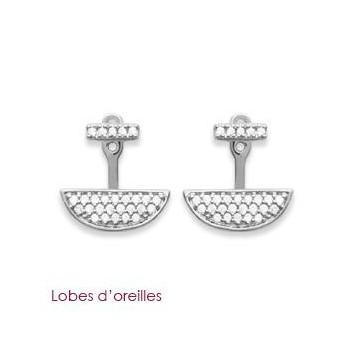 Boucles d'oreilles en argent rhodié et OZ. DB 3080610.