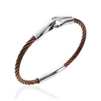 Bracelet pour homme en acier marron.