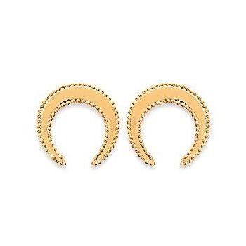 Boucles d'oreilles quartier de lune en plaqué or.