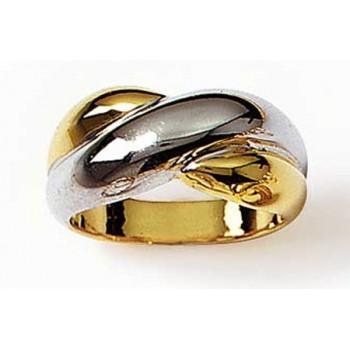 Bague bicolore en plaqué-or et rhodium. DB41013133