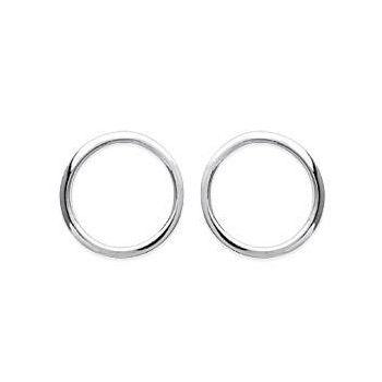 Boucles d'oreilles cercles en argent rhodié