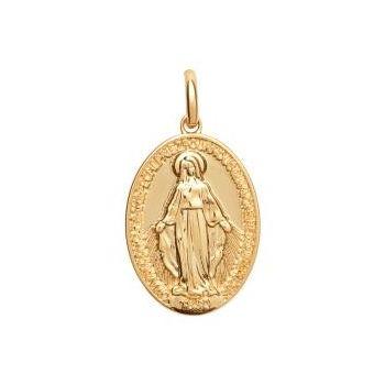 Médaillon de la vierge Marie en plaqué or.