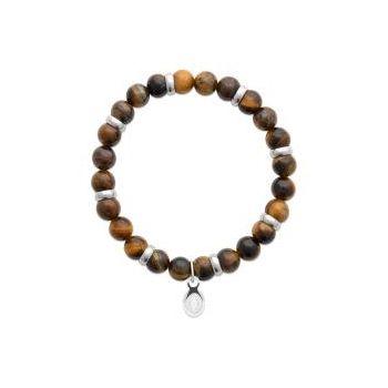 Bracelet homme.  Bracelet élastique à perles oeil de tigre.
