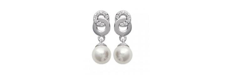 Boucles d'oreilles en argent avec perles