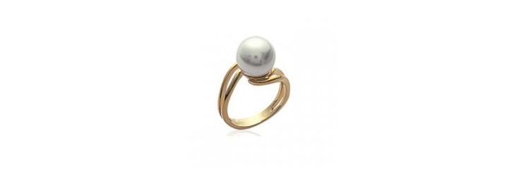 Bagues en plaqué or avec perles