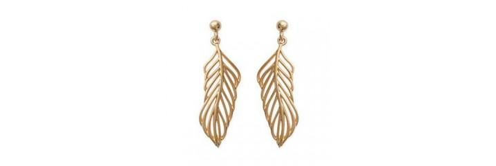 Boucles d'oreilles en plaqué or sans pierre